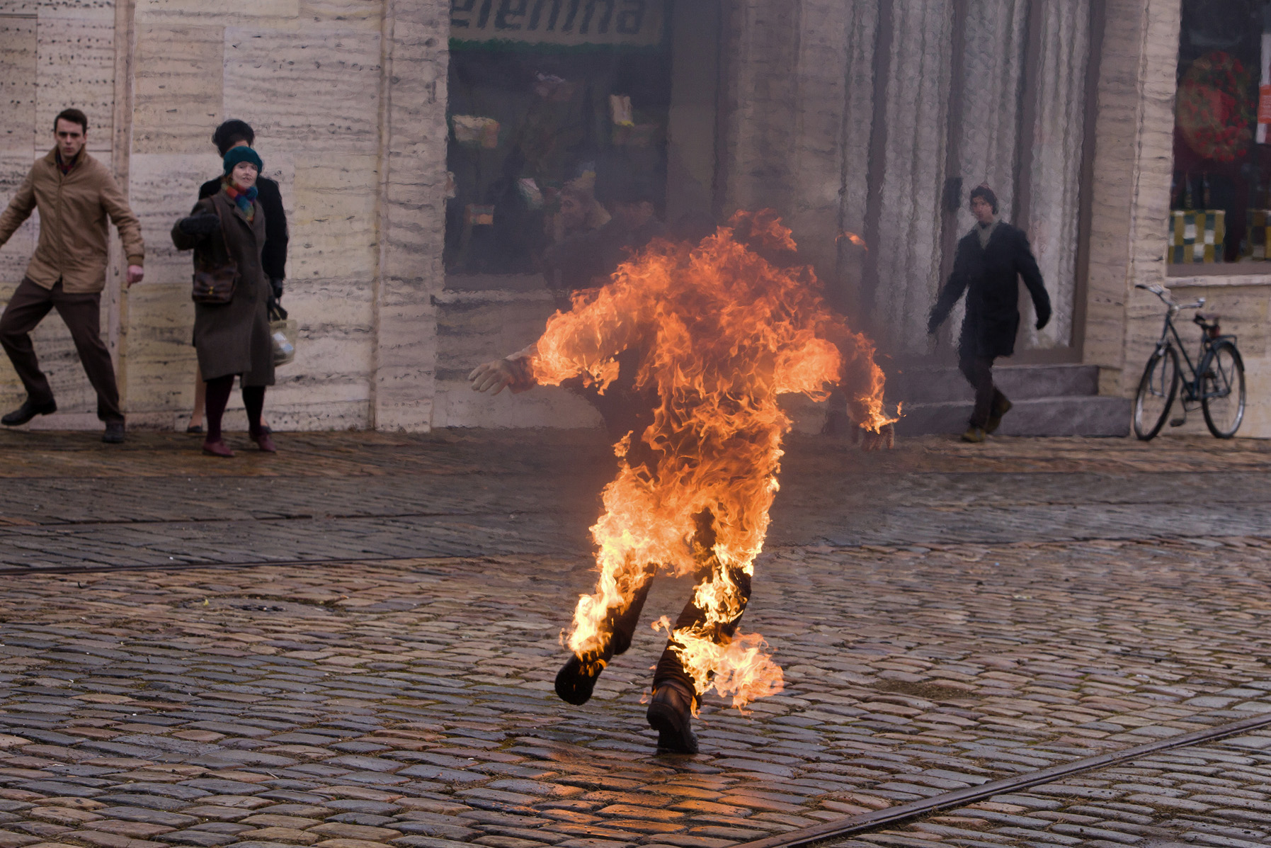 """Filmstill """"Burning Bush"""""""