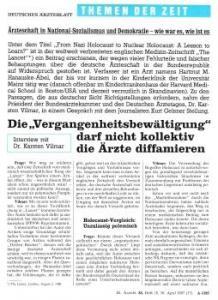 """Ausriss aus dem """"Deutschen Ärzteblatt"""""""