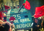 Demonstration in Porto am 25. April 1983