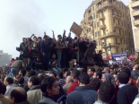 Demonstrators on Army Truck in Tahrir Square, Cairo