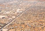 Luftaufnahme vom Za'atri Refugee Camp in Syrien
