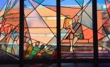 Bleiglasfenster im Fürstenberghaus der Westfälischen Wilhelms Universität Münster