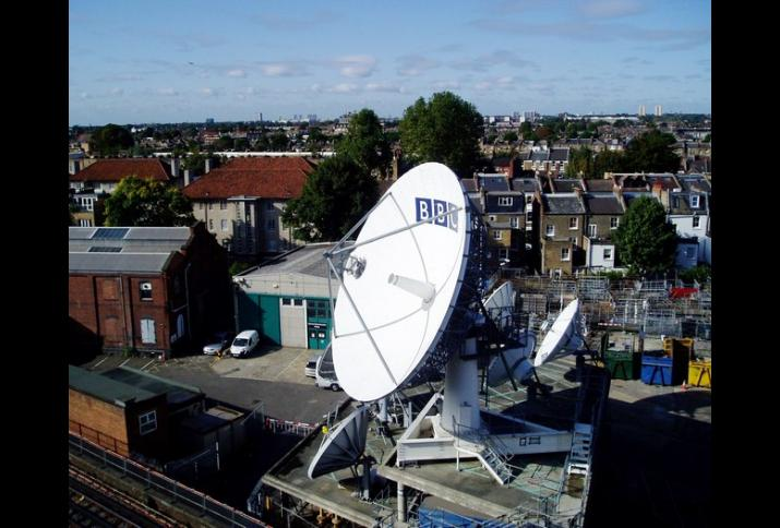 Satellitenanlage in der Nähe von Hammersmith