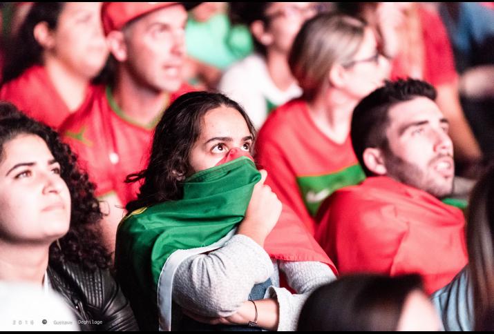 Portugiesische Fans beim Spiel Portugal-Polen bei der EURO 2016, Quelle: Flickr, (CC BY-NC-ND 2.0), Foto: Gustave Deghilage, 2016