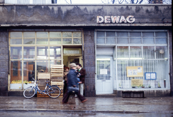 Bahnhofstraße in Merseburg, 1980.