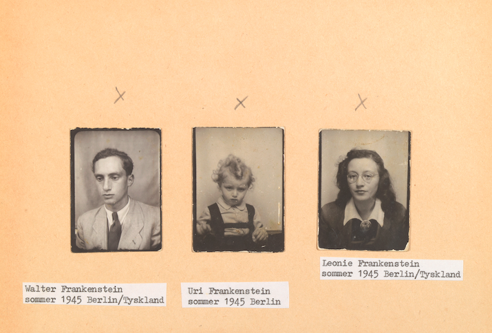 Passbilder Walter, Peter-Uri und Leonie Frankenstein nach der Befreiung, Berlin Sommer 1945