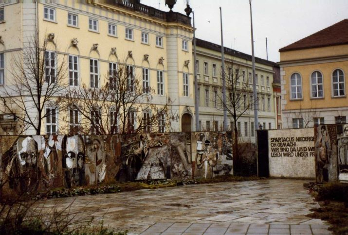 Spartacus Memorial, Potsdam DDR Januar 1990