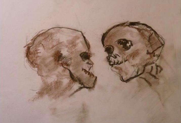 Zeichnung von Pierre Fertil, einem ehemaligen Kriegsgefangenen des Lages Sandbostel