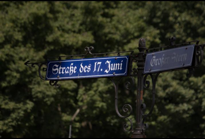 Straßenschild der Straße des 17. Juni