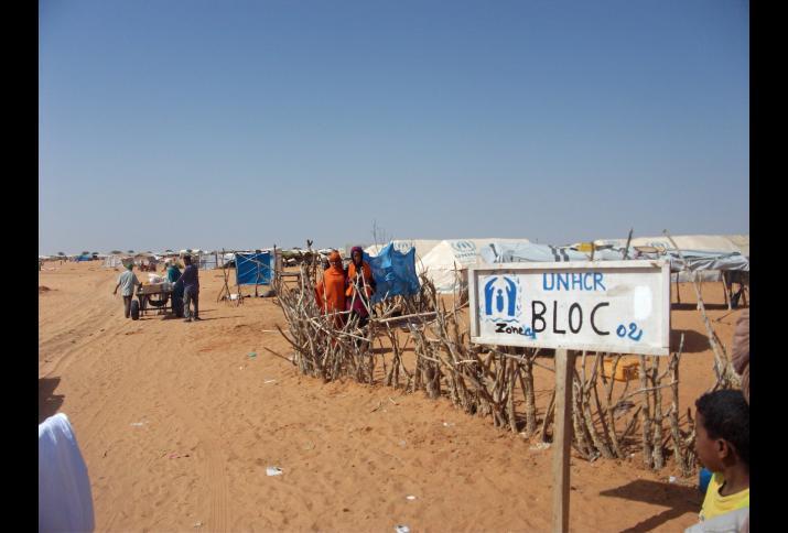 Foto: Malische Geflüchtete in einem UNHCR-Camp in Mauretanien, 2013