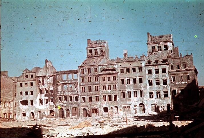 Zerstörte Innenstadt, Warschau 1944