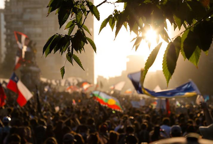 Santiago de Chile, Plaza de la Dignidad, 6. Dezember 2019