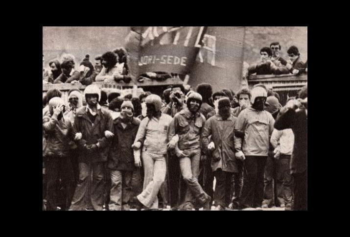 Manifestazione del movimento 77 a Roma
