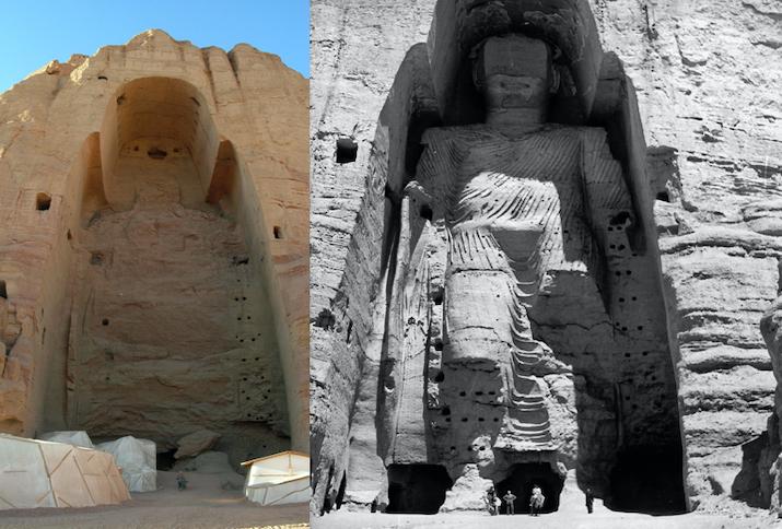 Die Buddha-Statuen von Bamiyan sind wohl das bekannteste Beispiel für die Zerstörung des Weltkulturerbes durch Krieg und Terror. Sie gehörten zum UNESCO Kulturerbe und wurden im Jahr 2001 von den Taliban zerstört.