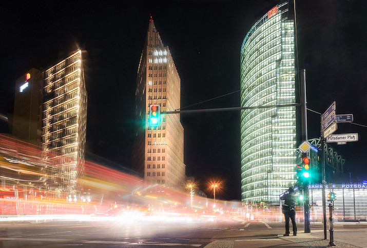 Langzeitbelichtung Berlin, Potsdamer Platz