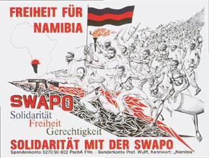 Einige Poster wurden international verteilt, wie dieses berühmt gewordene SWAPO Plakat.