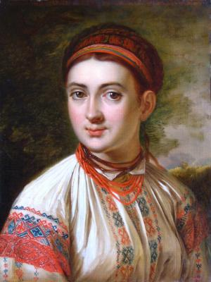"V. Tropinin ""Lady from Podolia"" (painted before 1821), Kursk gallery"