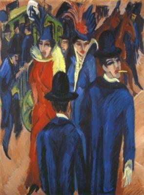 """Das Gemälde """"Berliner Straßenszene"""" des expressionistischen Künstlers Ernst Ludwig Kirchner"""