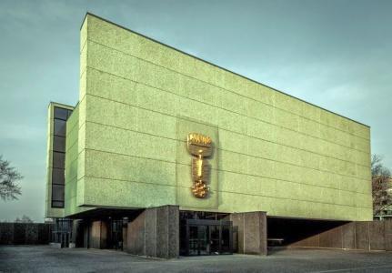 Die zwischen 1960 und 1963 errichtete Gedenkkirche Maria Regina Martyrum in Berlin.