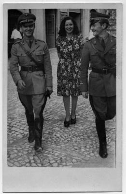 Michele Montagano (rechts), 1942. Foto: privat. All rights reserved.