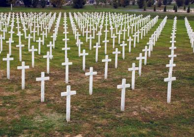 The Memorial Cemetery of Homeland War Victims was built between 1998 and 2000, and it is marked with 938 marble crosses.