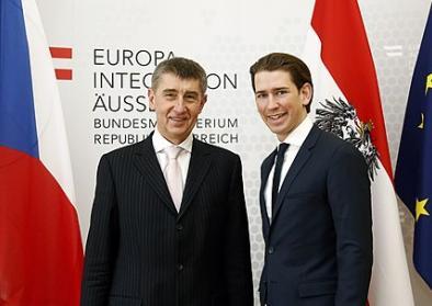 Bundesminister Sebastian Kurz trifft den tschechischen Vizepremier Andrej Babis. Wien, 13.02.2015