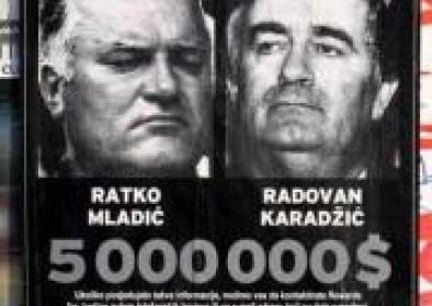 Fahndungsplakat Mladić Karadžić