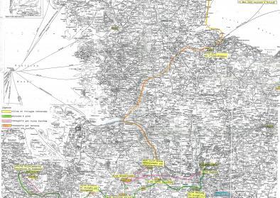 Karte des Todesmarschs von Pascal Vallicioni (und Raymond Gourlin) vom 5.04. bis 30.04 1945. Foto: privat. All rights reserved.