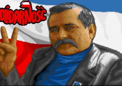 Screenshot des Startbildschirms von Solidarność