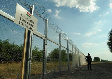 Der Grenzzaun zwischen Ungarn und Serbien, 21. Juli 2015