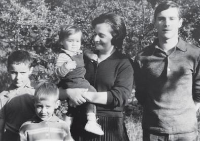 schwarz-weiß Fotografie der Familie Brasch