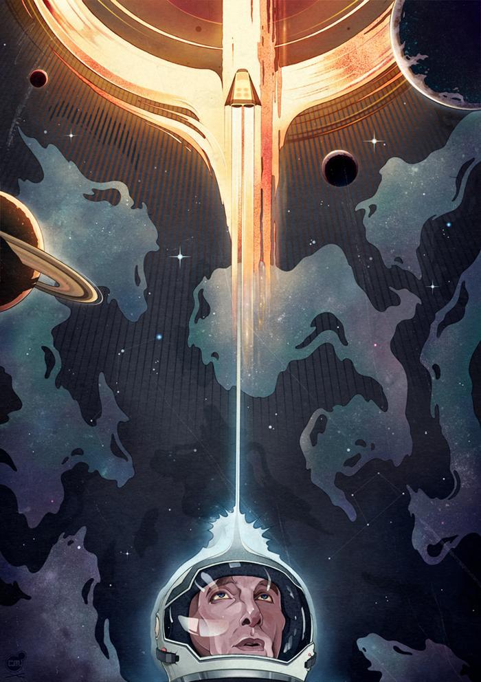 """""""Interstellar"""" Film Illustration für das New Yorker Magazine. © Chris B. Murray, 2014"""
