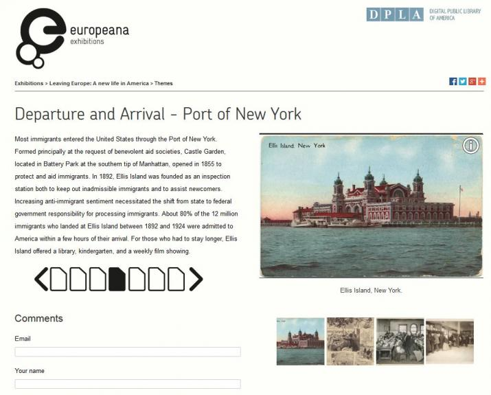 Europeana Exhibitions: Leaving Europe