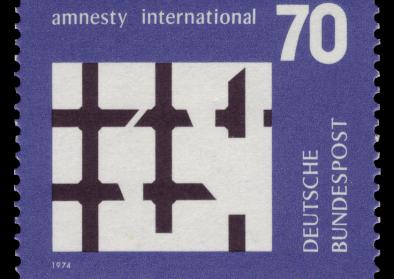 Briefmarke Deutsche Bundespost Amnesty International 1974