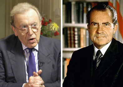 Sir David Paradine Frost –British broadcaster– & Richard Nixon –President of United States of America (1969-1974)