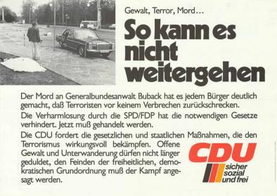 Politisches Plakat der CDU
