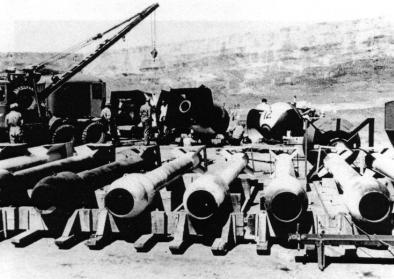 "Casings for the ""Thin Man"" plutonium gun design weapons, ca. 1945."