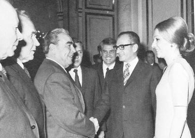 Shah Mohammad Reza Pahlavi, Farah Pahlavi, Leonid Brezhnev, Moscow 1970