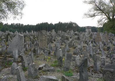 Gedenkstätte in Treblinka am 10. März 2015