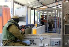 Inside Hawara checkpoint, in the occupied West Bank, Palestine (12.6.2006) Photo by Magne Hagesæter (Own work) CC BY-SA 3.0 via Wikimedia Commons