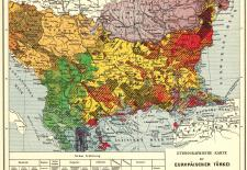 Ethnological Map of European Turkey and her Dependencies at the Time of the Beginning of the War of 1877, by Karl Sax, I. and R. Austro-Hungarian Consul at Adrianople. Published by the Imperial and Royal Geographical Society, Vienna 1878.