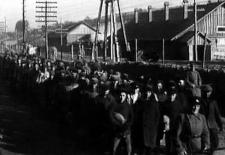 Prisoners on building of Moscow-Volga canal (1932-1937)