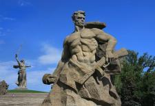 Skulpturen der Gedenkstätte auf dem Mamajew-Hügel. Foto: Alexander Kaasik CC-BY-SA 4.0