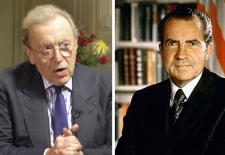Sir David Paradine Frost –British broadcaster– & Richard Nixon –President of United States of America (1969-1974)