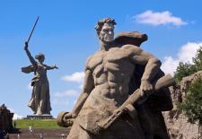© Jacopo Romei   flickr CC BY-SA 2.0. Titel: Die Mutter-Heimat-Statue im südrussischen Wolgograd (bis 1961 Stalingrad). Aufgenommen im Aug. 2011.