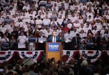 Trump bei einem Wahlkampfauftritt in Las Vegas, Februar 2016.
