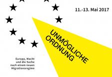 """Flyer der Internationalen Konferenz """"Unmögliche Ordnung"""", Mai 2017"""