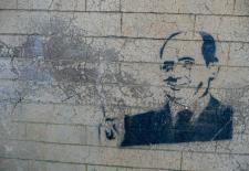 Stencil von Berlusconi in Rom