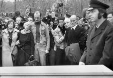 Beerdigung von Ensslin, Baader und Raspe in Stuttgart 1977
