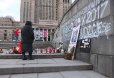 Platz vor dem Kulturpalast in Warschau, November/Dezember 2017